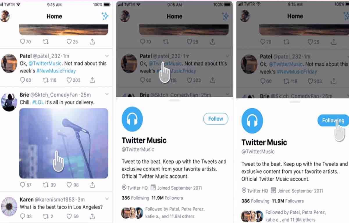 Nueva forma de ver los perfiles de usuario en Twitter